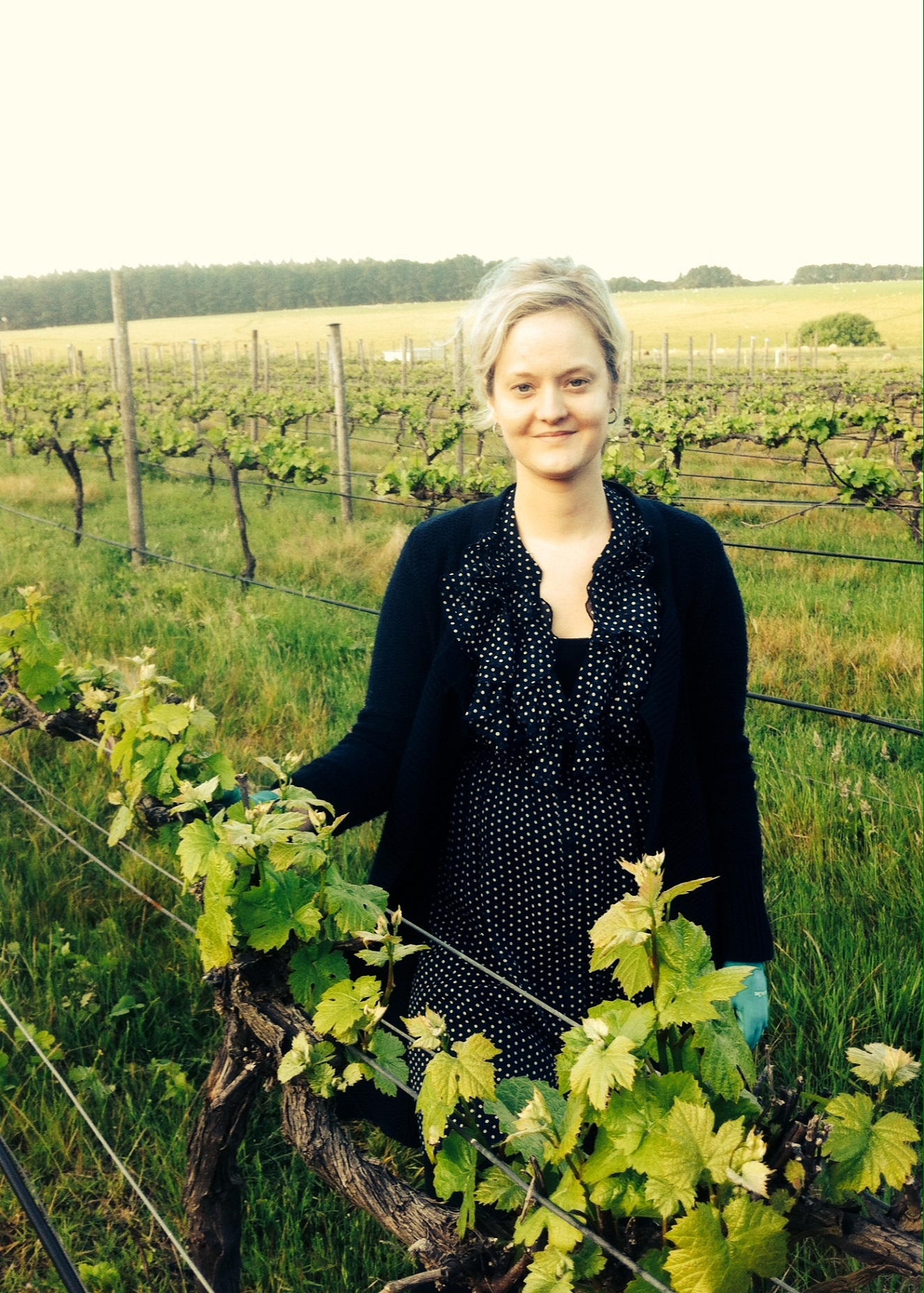 Pic of Michelle in her vineyard