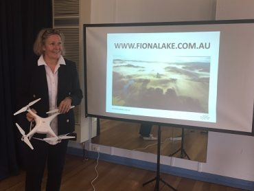Fiona Lake presenting at the 2018 Women on Farms Gathering