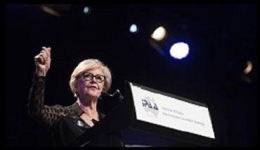 Gillian Triggs speaking at the Institute of Public Administration Australia gala dinner