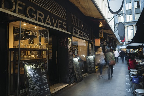 Cafe in Degraves Street, Melbourne