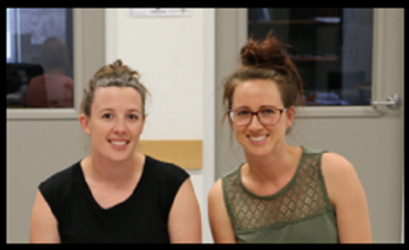 Leisha Morrison and Kate Nelson attending a Young Farmers bootcamp