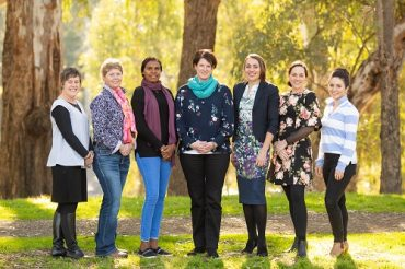 Seven finalists of the 2018 AgriFutures Rural Women's Award