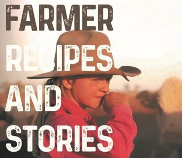 Cover of drought-relief cookbook, Farmer Recipes and Stories From The Land