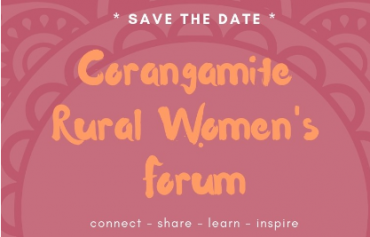 Flyer for Corangamite Rural Women's Forum