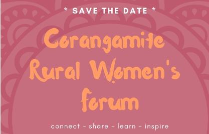 Flyer for Corangamite Rural Women's Forum