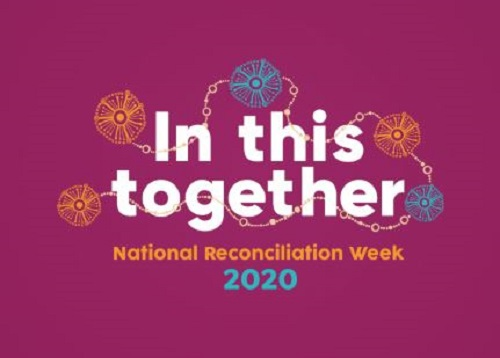 National Reconciliation Week logo stating theme 'In this together'