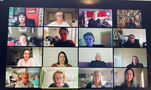 Members of a new Aboriginal Women's Leadership Program in a screenshot taken from their first online meeting