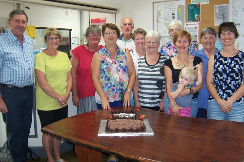 Lockington residents and volunteers gather to celebrate the 10th anniversary of the local Business Centre