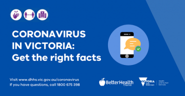 Coronavirus - get the facts right blue promo