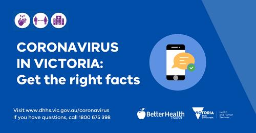 Coronavirus - get the facts right blue promo