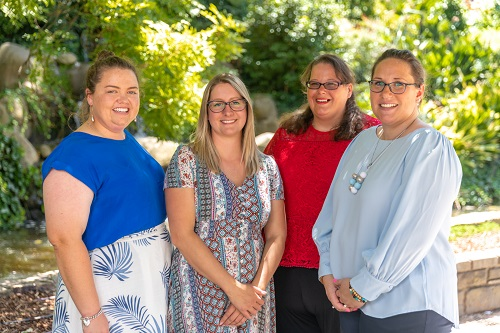 AgriFutures™ Victorian Rural Women's Award 2020 finalists (from L-R) Jackie Elliott (Byaduk), Kerryn Wildenburg (Kyneton), Katrina van Eyk (Pyramid Hill) and winner Kelly Barnes (Dunkeld)