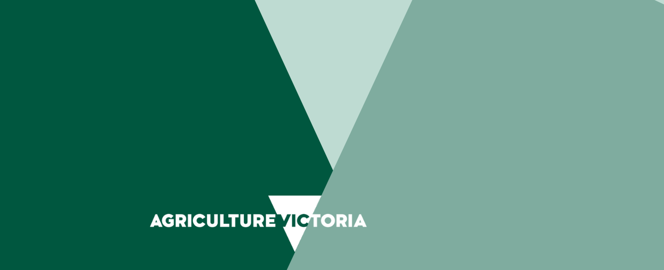 Green triangles with Agriculture Victoria Logo