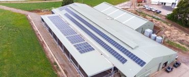 Dairy at Ellinbank with solar panels on the roof