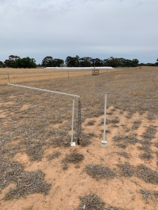Soil core pulley system used to create a one metre soil core, which enables 10 centimetre samples to be taken in the paddock and also enable visual identification of soil layers.