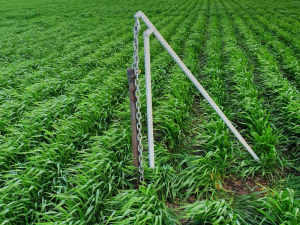 Soil core pulley system used to create a one metre soil core, which enables 10 centimetre samples to be taken in the paddock and also enables visual identification of soil layers.