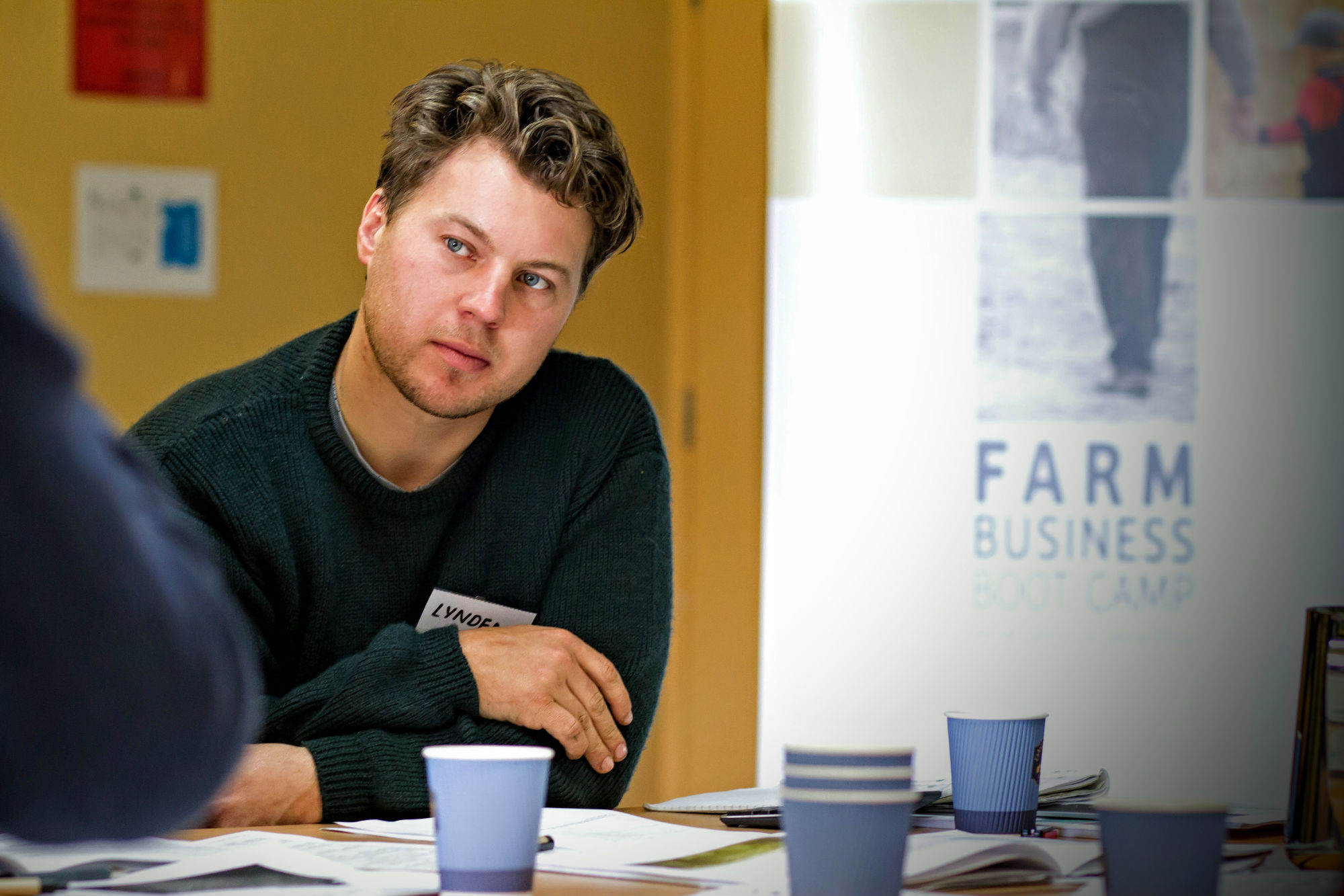 Young Farmer attending a Business Bootcamp