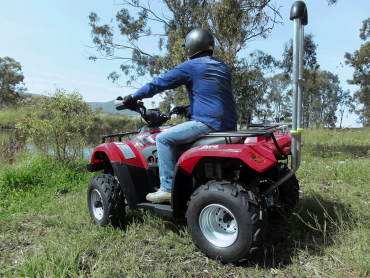 Farmer on quad bike
