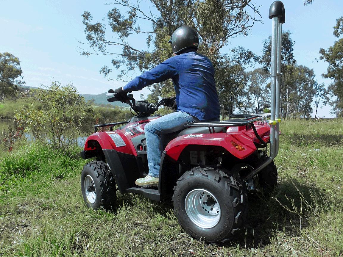 Farmer on quad bike