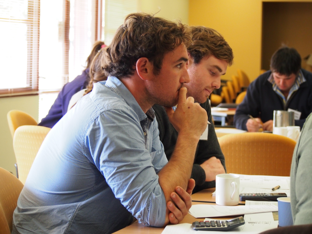 Young Farmers at a business bootcamp
