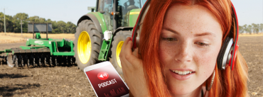 Woman and tractor