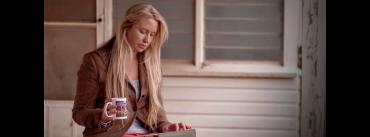 woman with an iPad
