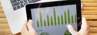 iPad with farm business stats